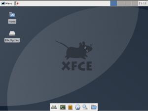 xfce acrh linux desktop
